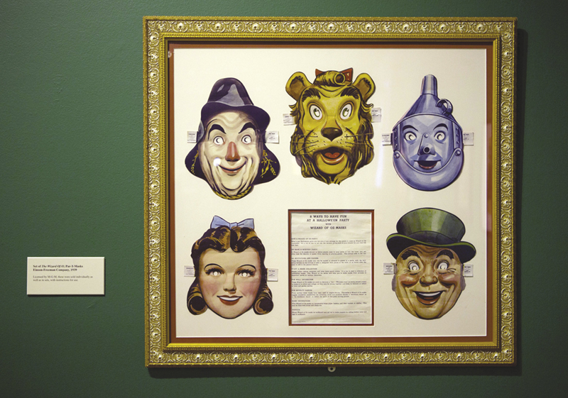 """A set of masks of characters from the movie """"The Wizard of Oz"""" is displayed at the Farnsworth Museum, in Rockland."""
