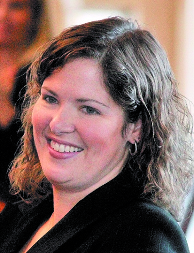 Rep. Emily Cain, seen here in 2012, has a financial edge among Democrats in her bid for the 2nd Congressional District seat in Maine.