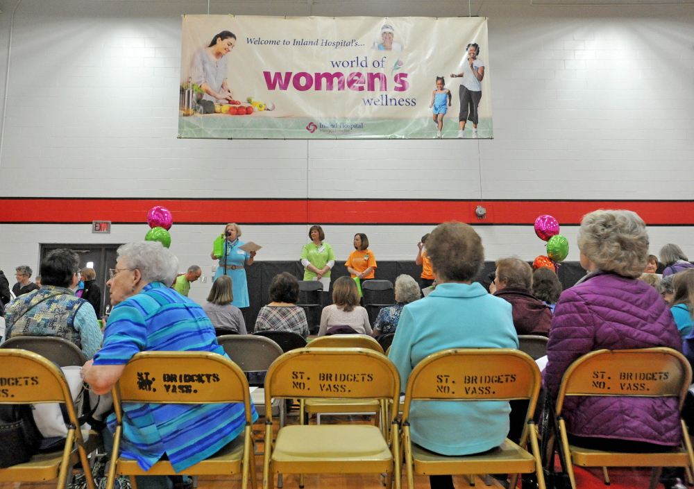 Eat to live: Lectures and demonstrations on exercise and diet were offered Saturday at the 17th annual World of Women's Wellness, sponsored by Inland Hospital at Thomas College.