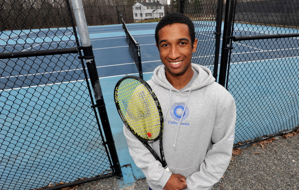 YOUNG Talent: Colby College tennis player Carl Read.