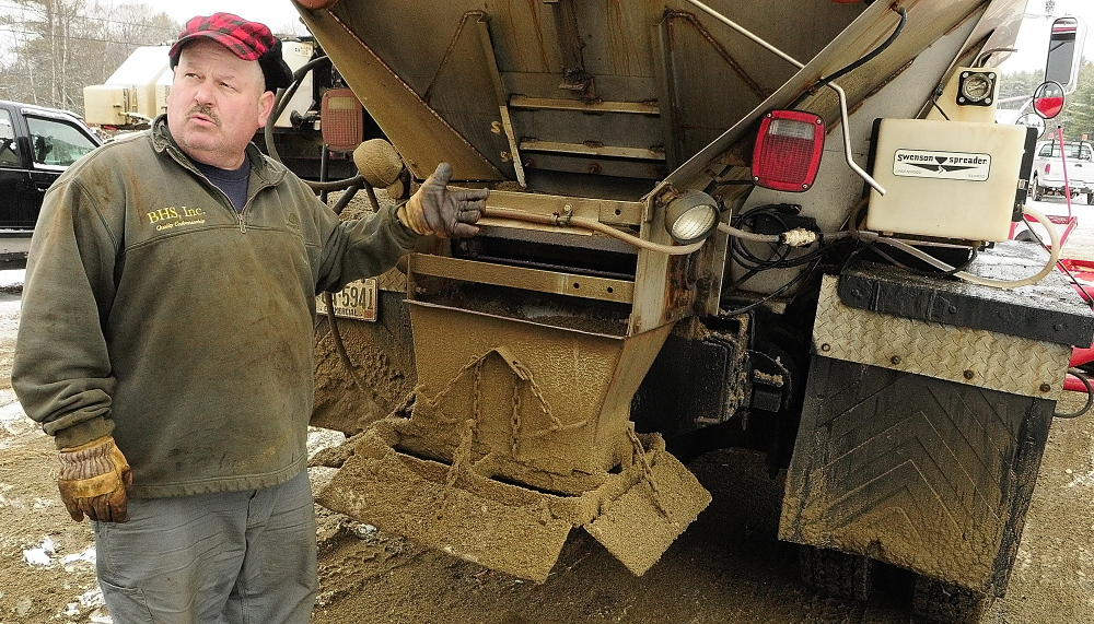 Farmingdale contractor Chris Ellis of Ellis Construction said his plow drivers didn't use the calcium chloride on lower-speed or back roads based on advice from Maine Department of Transportation's Maine Local Roads Center.