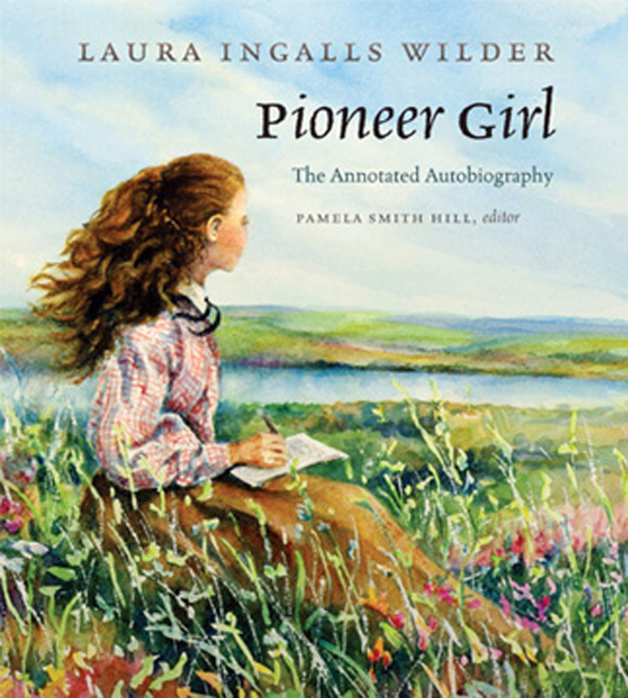 """This undated image provided by the South Dakota Historical Society Press shows Judy Thompson's illustration of the cover of """"Pioneer Girl: The Annotated Autobiography"""". The original version of the autobiography, that Wilder likely wrote in the late 1920s, was written on tablet paper with lead pencil. The South Dakota State Historical Society Press plans to publish an annotated version of this fall."""