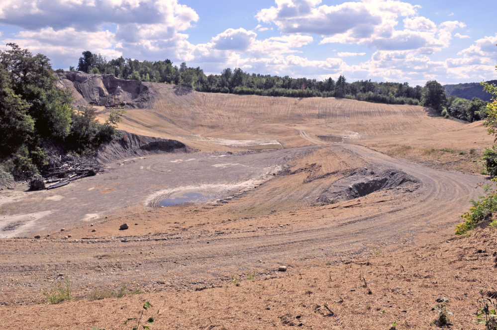 This former gravel pit is the Greater Augusta Utilities District's new east side well complex off Riverside Drive in Augusta.
