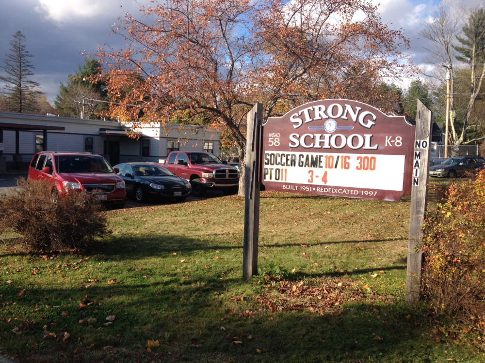 Strong Elementary School, where a faculty member has been placed on leave because of concerns over the Ebola virus. The teacher was recently in Dallas, where three cases of Ebola infection have been confirmed.