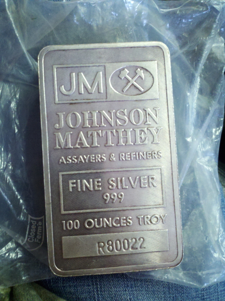 This 100-ounce bar of silver bullion is to be returned to the owners of an Augusta pawn shop. It was seized by police as part of a theft investigation.