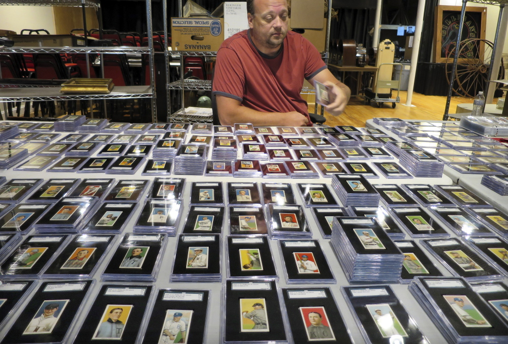 Auction Of Century Old Baseball Cards In Biddeford Draws