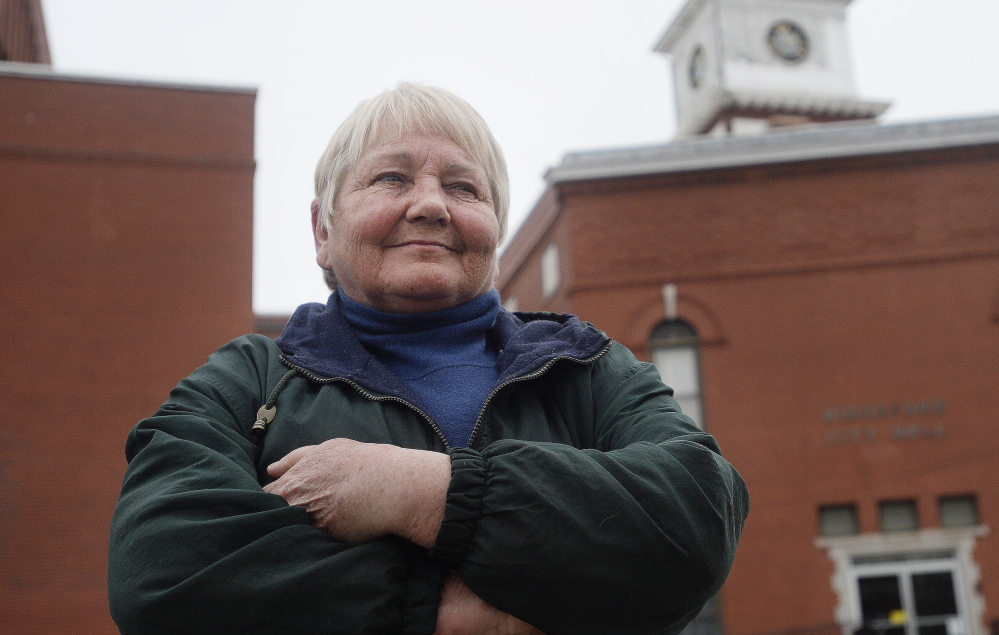 Joanne Twomey, a former Democratic state representative and Biddeford mayor, caused a stir when she interrupted an event led by Gov. Paul LePage on Thursday.