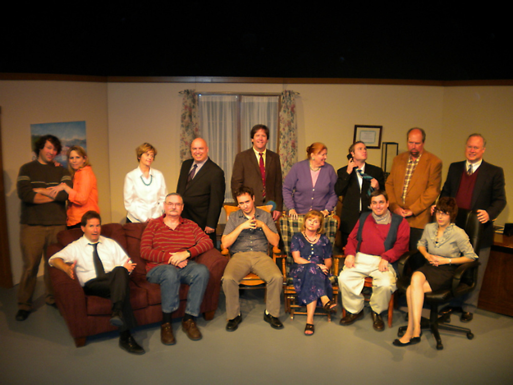"""Aqua City Actors Theater performed Norman Foster's """"Office Hours"""" during its 2012/2013 season. Waterville Creates! doubled the theater group's rent for its use of the 62-seat Studio Theater on the first floor of The Center, which the all volunteer company can't afford."""