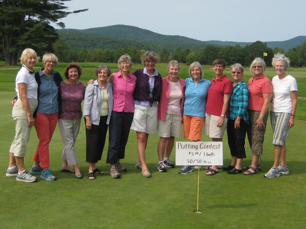 The ladies from Tyngtown, from left, are Dinny Sewall, Sarah Chamberlain, Trish Flint, Nancy Cureton, Paulette Cahn, Judy Upham, Kelly Weigle, Joan Haeger, Karen Lawson, Robin Bragg, Zetta Wojcik and Chris Cox.