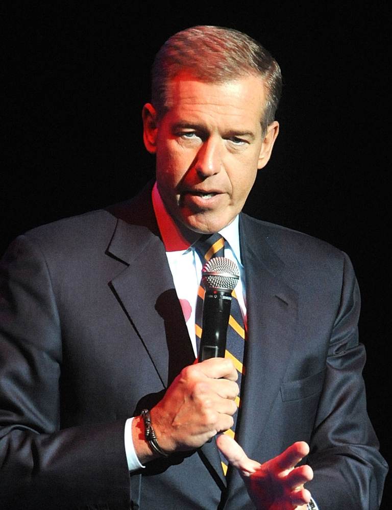 Brian Williams is all business as he begins his coverage of the papal visit.