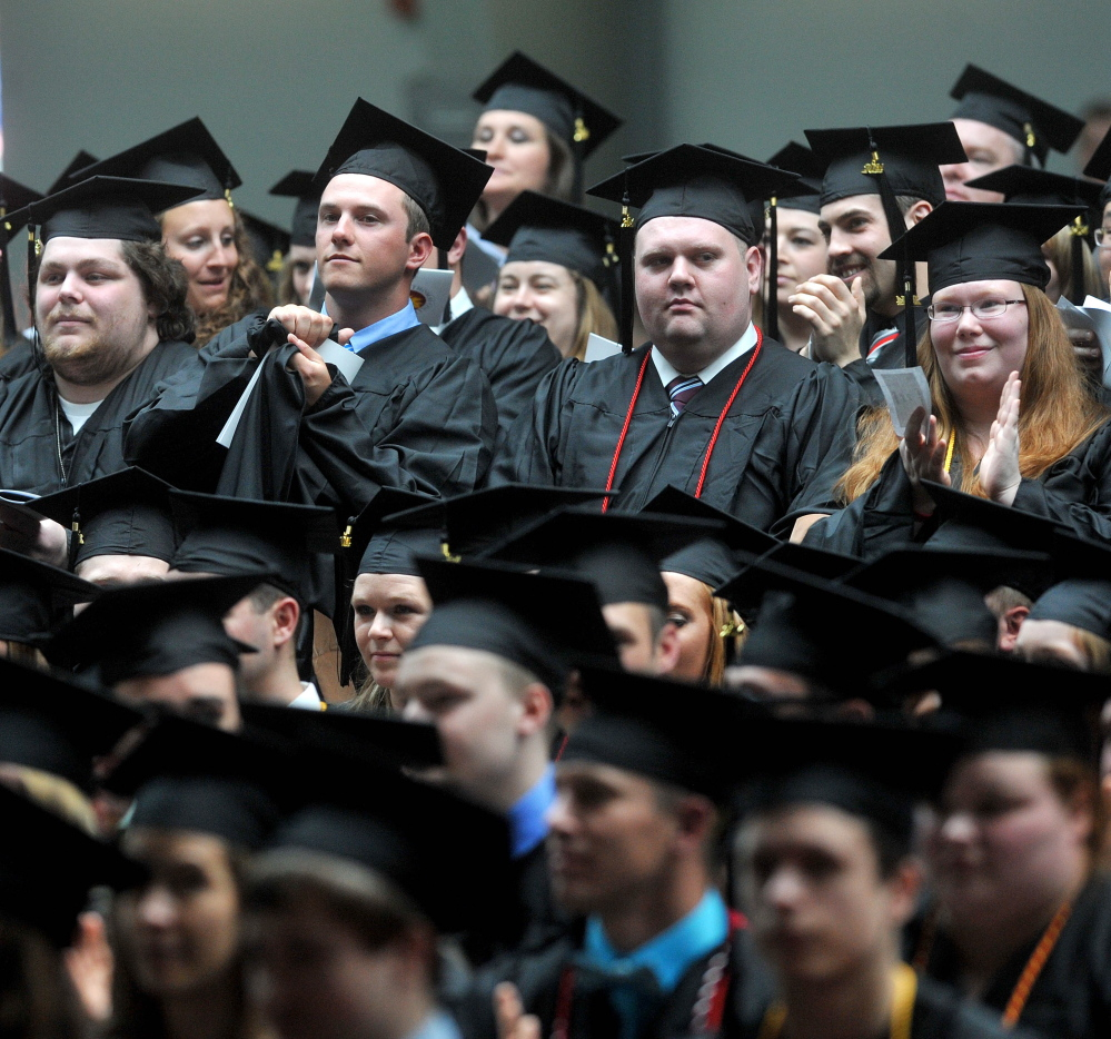 Thomas college graduates in 2014. The Waterville college announced Tuesday it is opening the Center for Innovation in Education, which it  says will make it the only Maine college that will prepare education graduates to teach in proficiency-based high school classrooms.