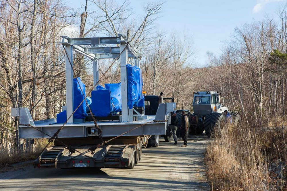 Sugarloaf ski resort on Saturday received parts to replace the motor mechanics in the bottom load terminal of the King Pine chair lift that malfunctioned last year.