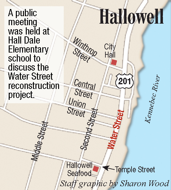 Maine DOT discusses Water Street reconstruction project in Hallowell