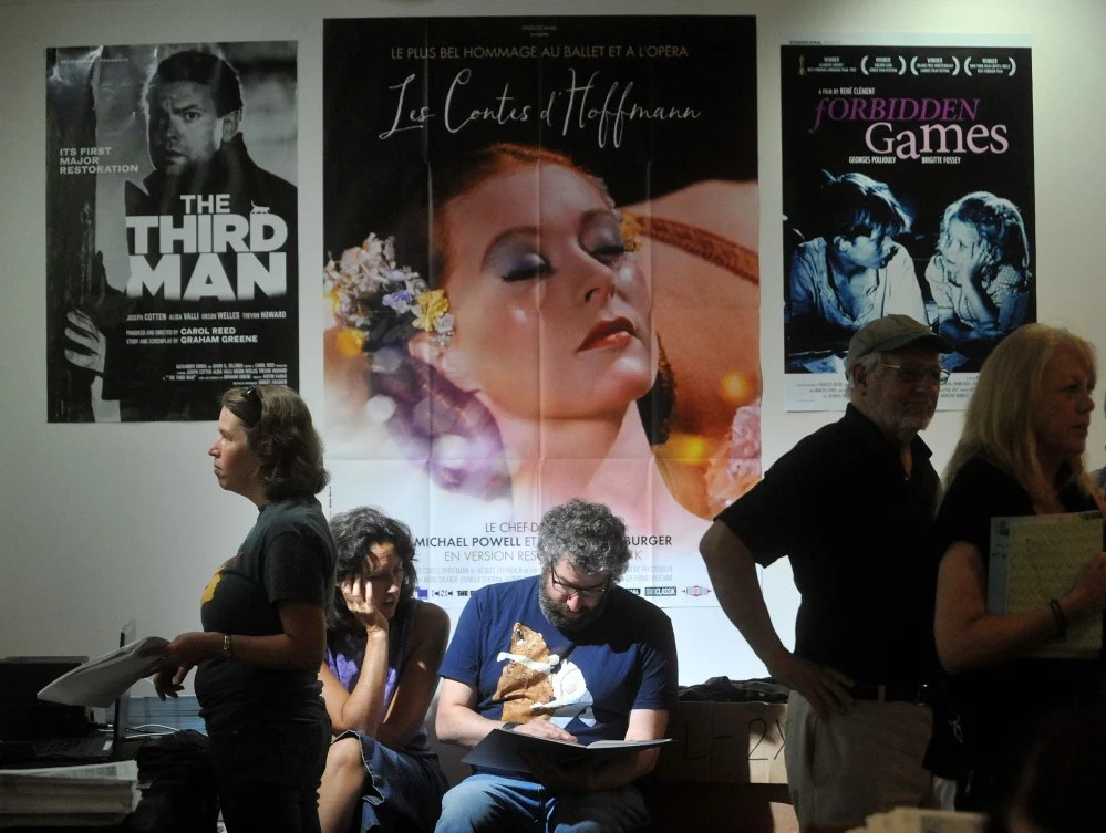 Festivalgoers gather in the lobby of Railroad Square Cinema in Waterville last July to buy tickets for the 18th annual Maine International Film Festival. This year's flim festival begins July 7.