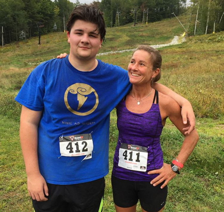 Andrew Balcer, 17, and his mother, Alice Balcer, 47, are shown together in a photo on her Facebook page that apparently was posted in September. Andrew Balcer, 17, has been charged with two counts of murder after his mother, Alice, and his father, Antonio, were found dead early Monday in their Winthrop home.