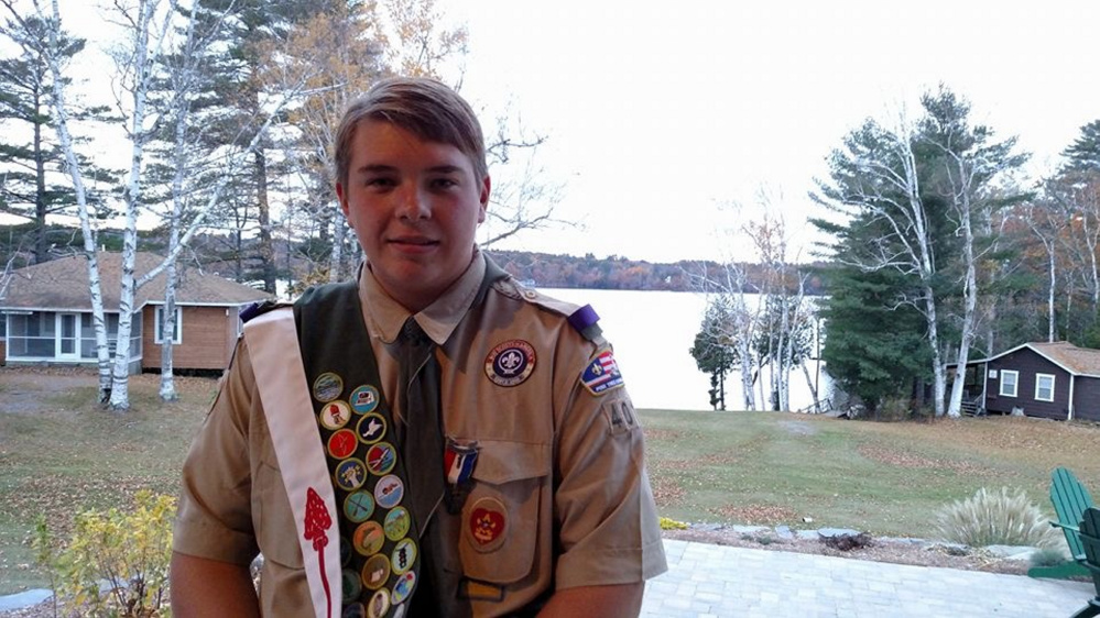 Owen Michael-Zeno Corrigan received his pin and award at an Eagle Scout Court of Honor Nov. 5 in Sidney.