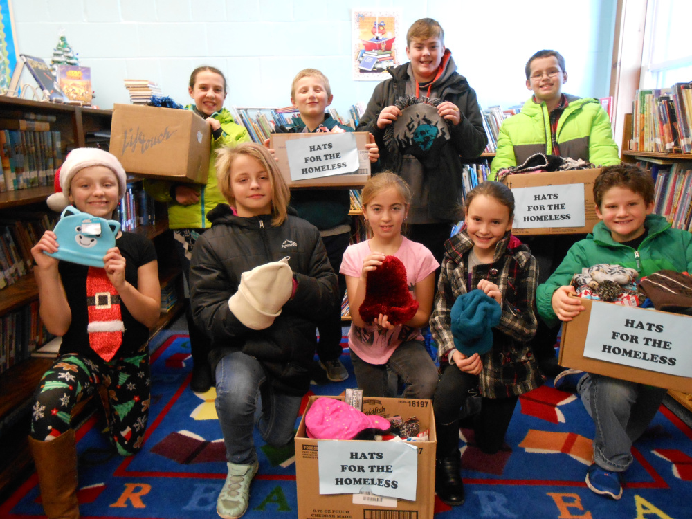 Clinton Elementary School's Student Council members in front, from left, are Cylie Henderson, Kyra Henry, Hailey Bowley, Kylie Delile and Max Begin. In back, from left, are Makenzie Nadeau, Cameron Stewart, Lucas Campbell and Matthew Stubenrod.