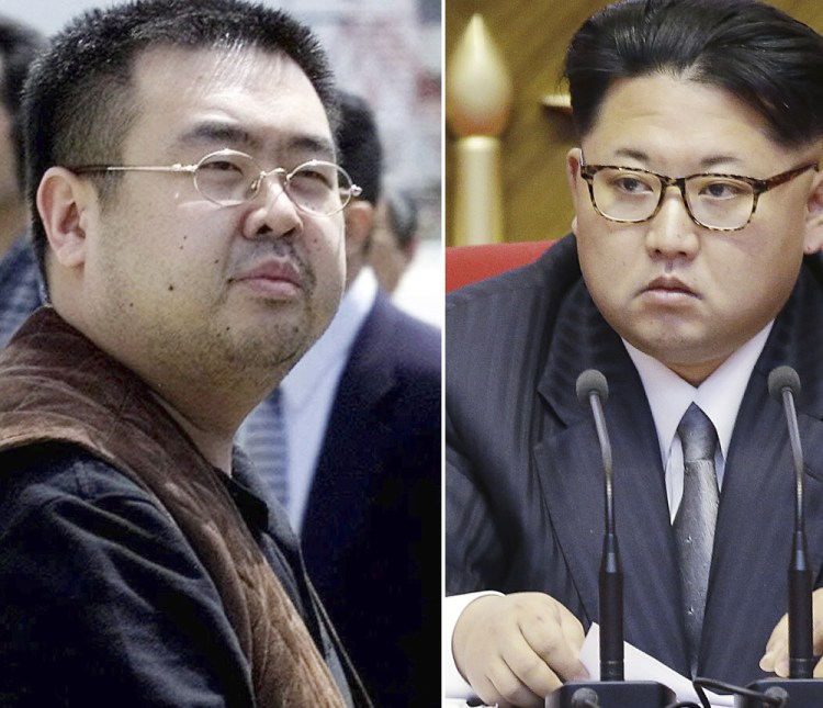 Kim Jong Nam, left, is the older half brother of  Kim Jong Un, North Korea's leader.