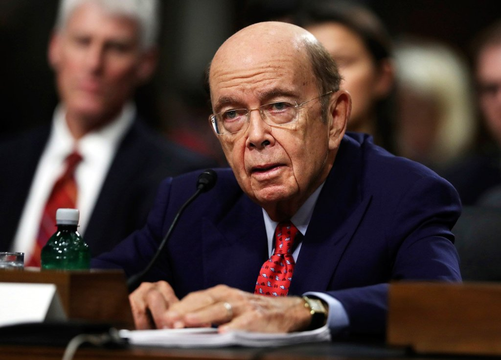Wilbur Ross testifies on Capitol Hill in Washington, at his confirmation hearing before the Senate Commerce Committee. Ross was confirmed Monday as Commerce Secretary.