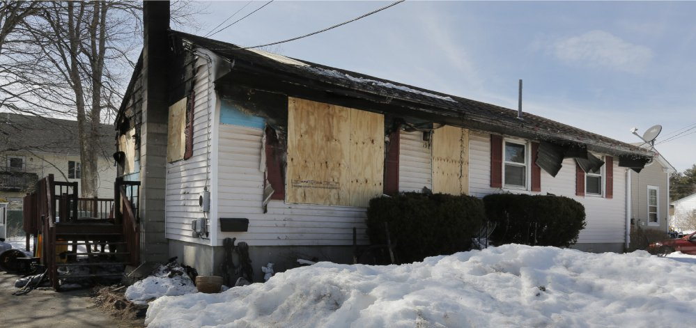 The home of the Doucette family, at 19 Harmon Ave. in Old Orchard Beach, caught fire Saturday. The community has rallied around the family, providing donations of clothes, beds, food and numerous gift cards.