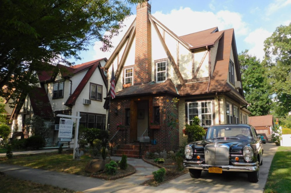 Donald Trump's childhood home, a five-bedroom Tudor-style house in Queens, sold last week for $2.14 million. MUST CREDIT: Courtesy of