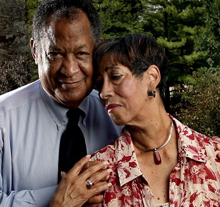 Patricia McKissack with her husband, Fredrick, in 2009. They teamed up to write award-winning children's books.