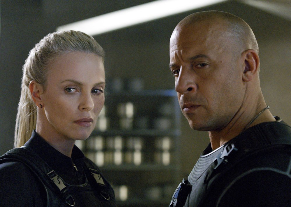 "Charlize Theron and Vin Diesel star in ""The Fate of the Furious."""