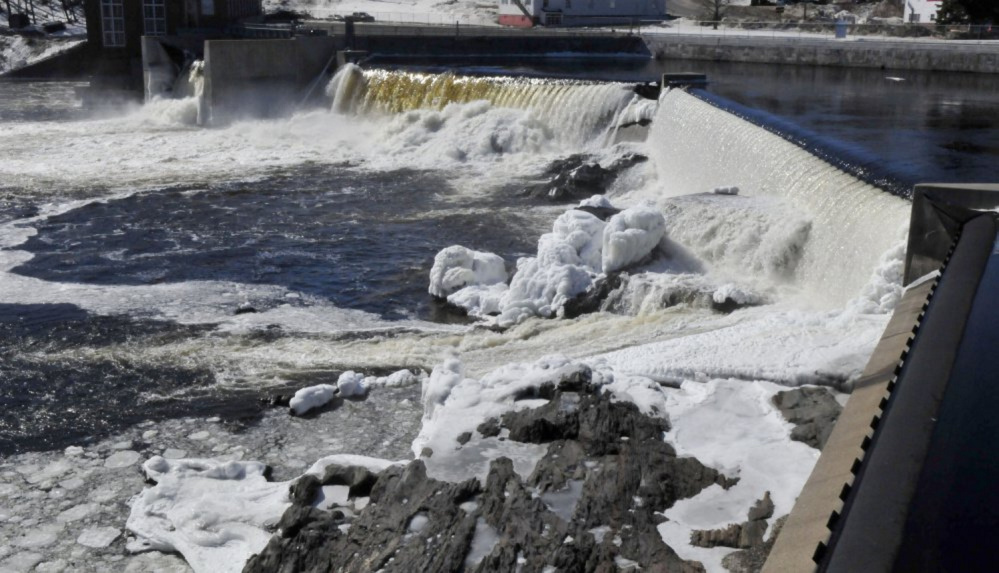 The Anson Dam, located beside the closed Madison Paper Industries mill on the Kennebec River, has been sold to a New Jersey-based hydroelectric power producer.