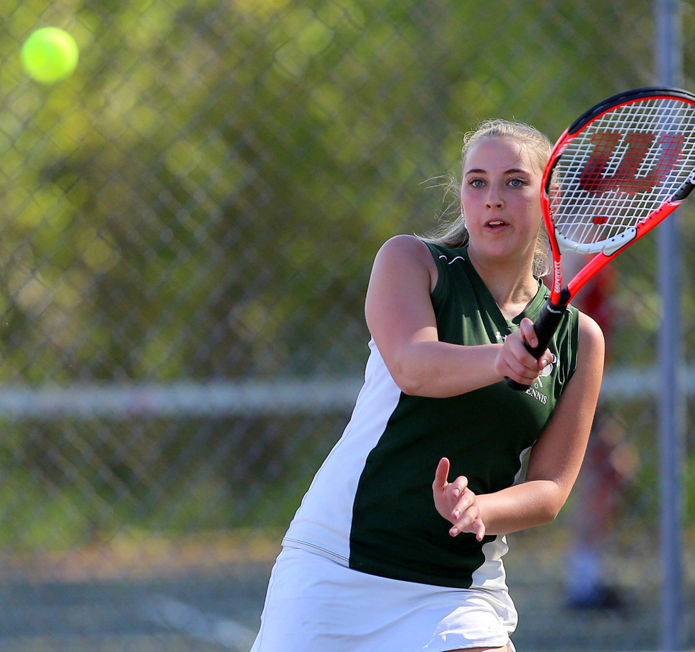 Sarah Spahr and the Winthrop tennis team will enter the C South playoffs as the No. 2 seed.