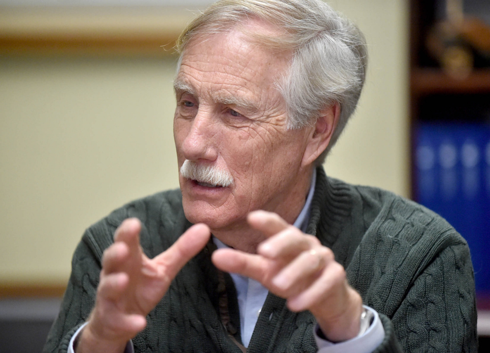 "Maine Sen. Angus King said Sunday that ""the Russians were trying to screw around with our elections and also state elections, which I find really scary."""