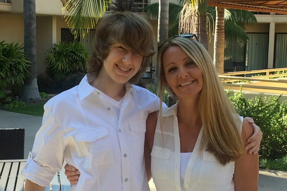 Tawny Biggs, with son Cole, was addicted to heroin and contracted hepatitis C from a dirty needle. Now sober, she backs a California bill to create supervised injection sites.
