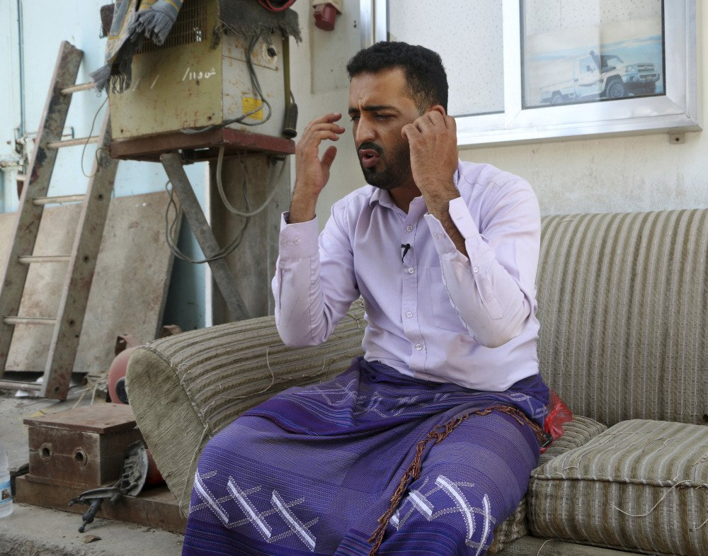 Yemeni businessman Ali Awad Habib recounts the torment he suffered in prison, where he said he was beaten with wires and wooden clubs and given electrical shocks.