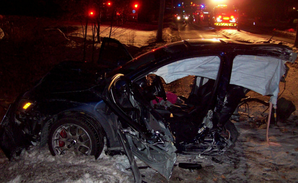 Two men were pulled from the wreckage of this vehicle in December on Townsend Road in Augusta.