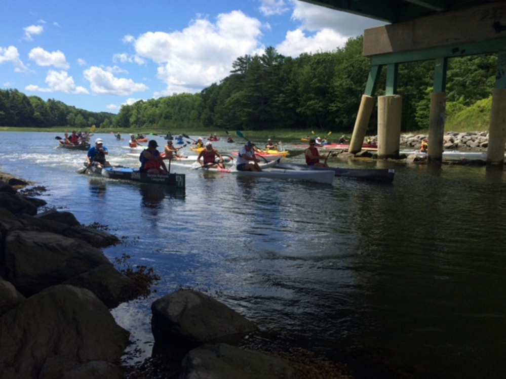 About 30 paddlers took part in the annual Sheepscot River Race in 2016. The course begins in Newcastle and meanders downriver to the finish line at Wiscasset's Recreational Pier. Registration is now open for the 2017 race being held on July 4 starting at noon.
