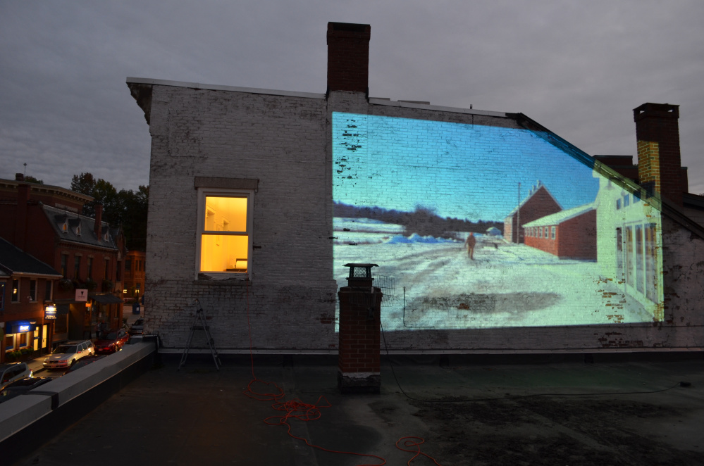 Projection art by Nick Runco.