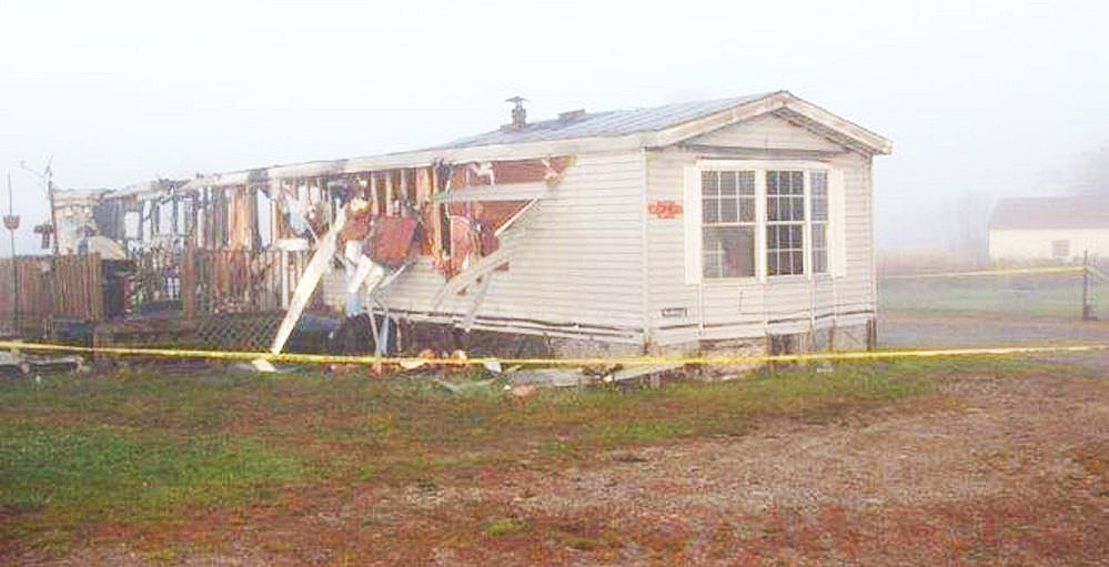 The body of Wayne Foss, a 48-year-old commercial fisherman, was discovered inside this mobile home after firefighters extinguished a blaze there early Saturday morning.