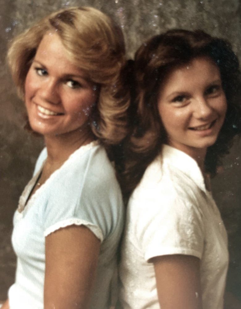 Kayla McLaughlin, left, and Gena Richardson – seen in 1977 – worked at Sears during their senior year of high school. Richardson says Moore visited her at the store and called her school to ask her out.