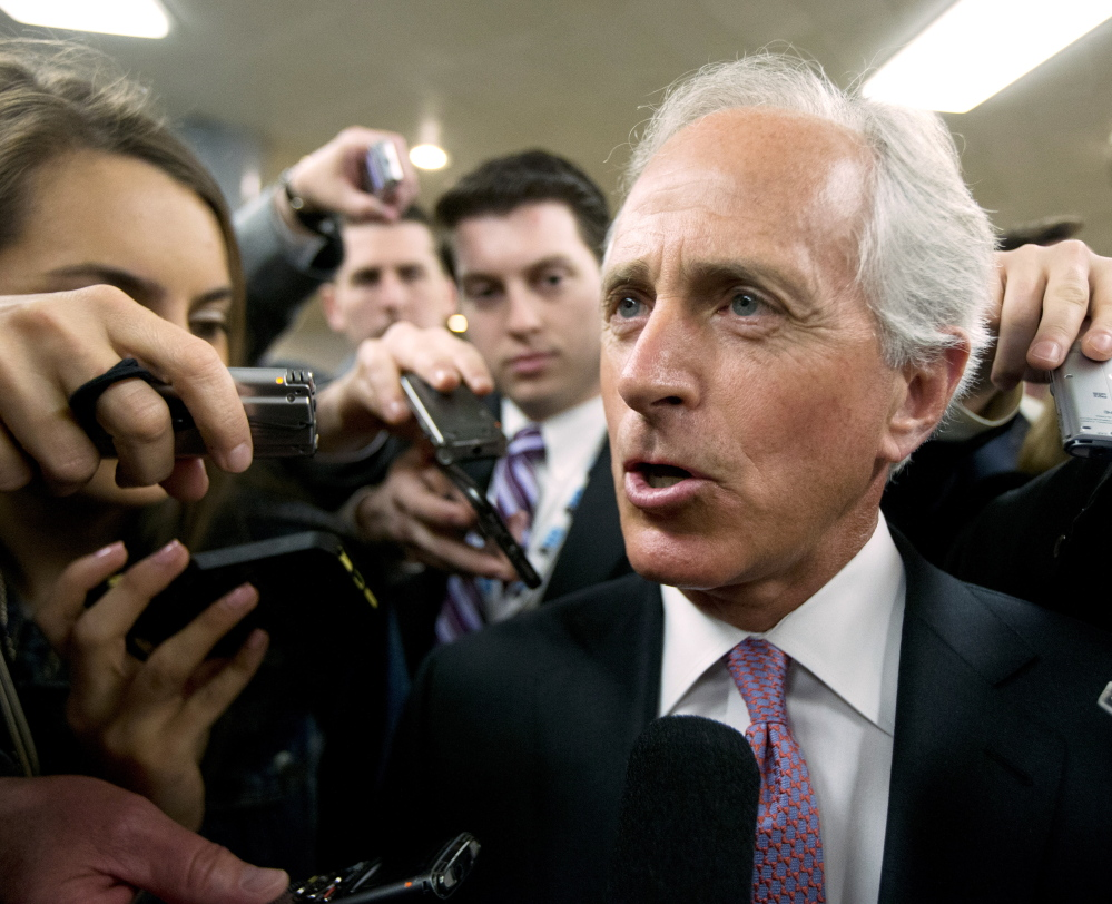 Sen. Bob Corker, as a member of the Senate budget committee, voted to advance the Republican tax plan to the full Senate, despite an earlier threat to vote no.