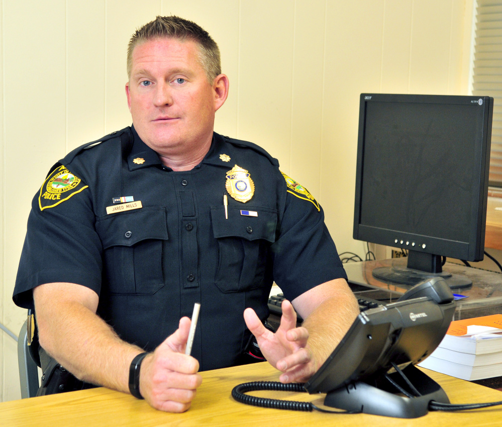 Deputy Chief Jared Mills, of the Augusta Police Department, talks about interpreting services in the Augusta police station.