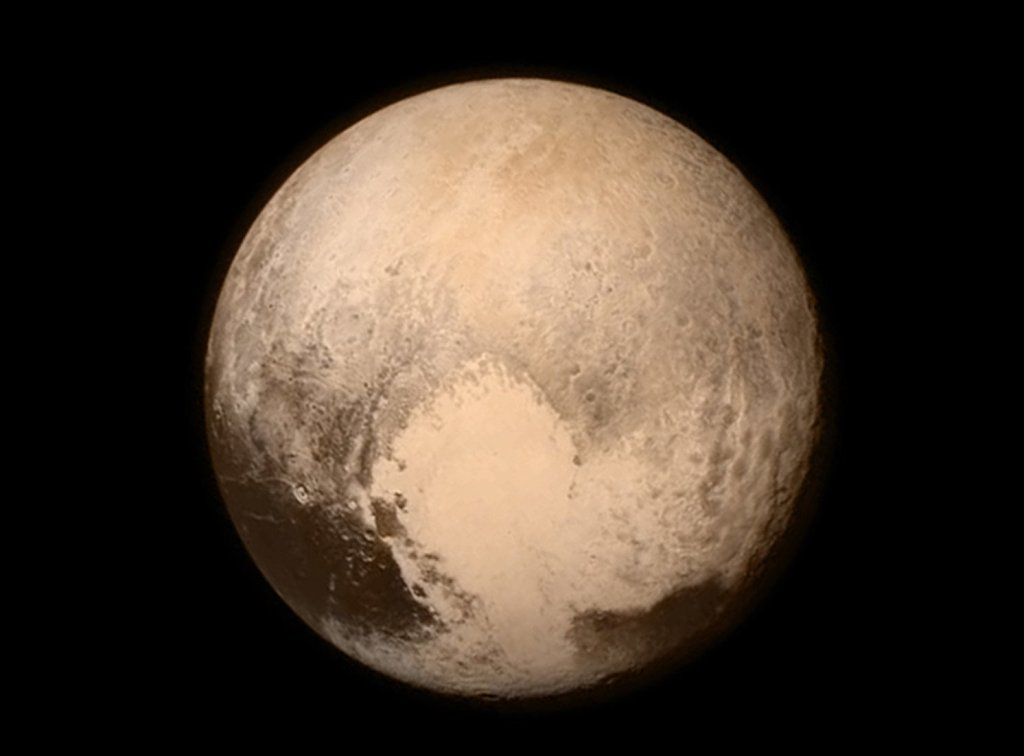 This image provided by NASA shows Pluto from the New Horizons spacecraft in 2015.