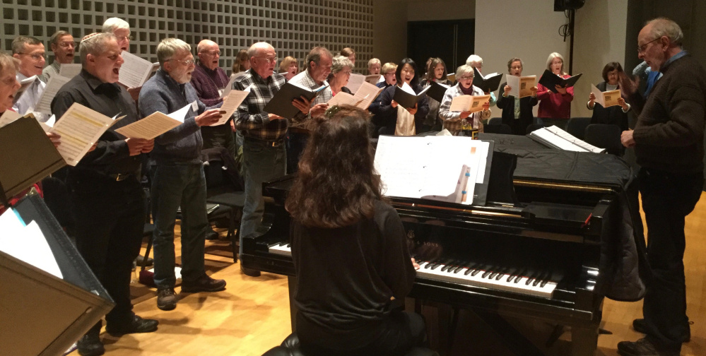 The Maine Music Society during a Heritage Holidays Rehearsal.