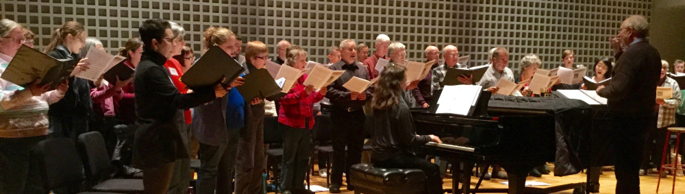 The Maine Music Society rehearsing for the Heritage Holidays Concert.