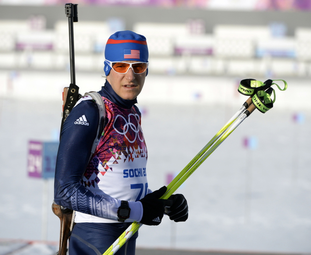 Russell Currier, who competed in the Sochi Games in 2014, has two more races this week to try to earn a place on the U.S. Olympic biathlon team in South Korea.