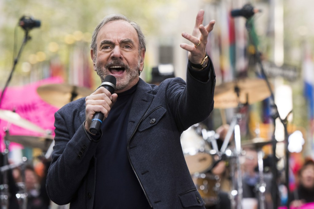 """Neil Diamond, performing in October 2014, told fans Monday: """"This ride has been 'so good, so good, so good' thanks to you."""""""