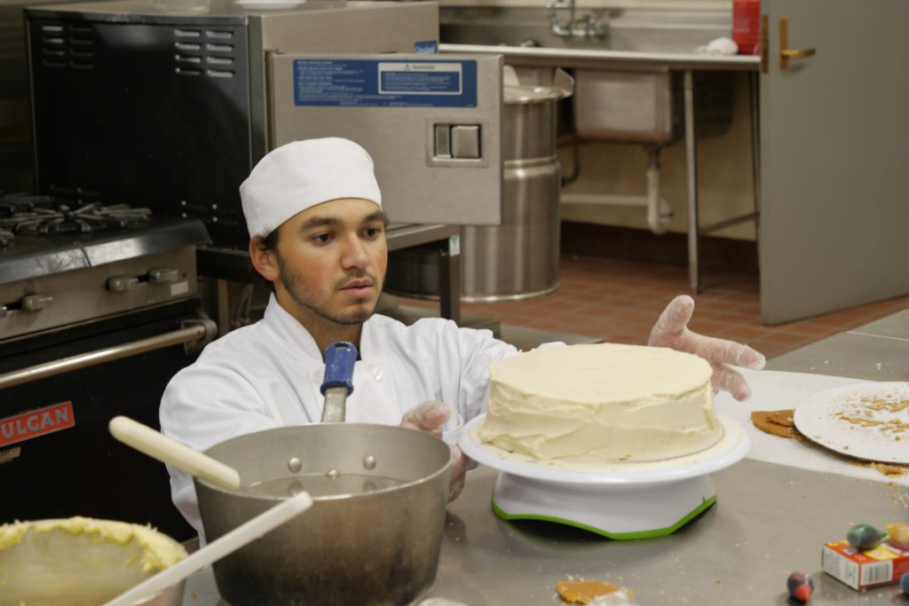 Tyrone Giger, a Waterville Senior High School student, won a gold medal in commercial baking.