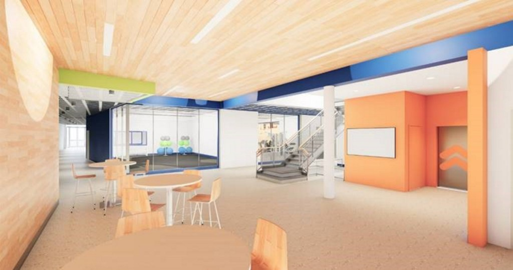 Planned Alfond Youth Center lobby