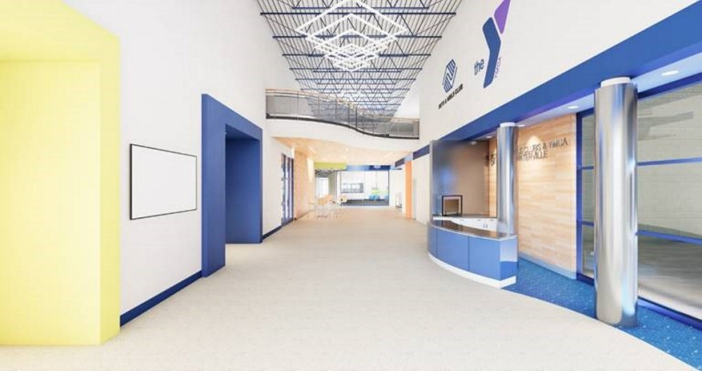 Planned Alfond Youth Center main lobby