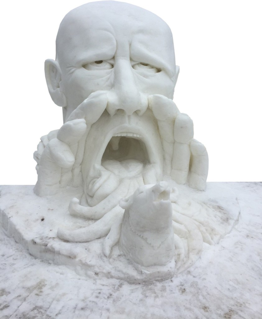 Amanda Bolduc and her team took fifth place at the U.S. National Snow Sculpting Championship in Lake Geneva, Wisconsin, in 2015 for this giant sculpture.