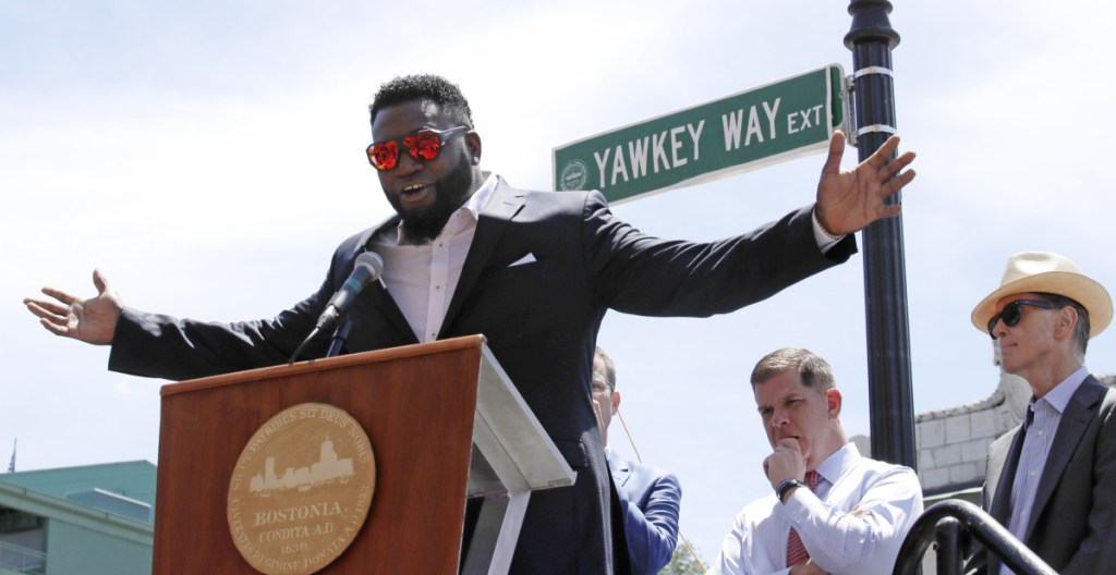 David Ortiz is honored in June with the renaming of a portion of Yawkey Way to David Ortiz Drive. The Red Sox now want the city of Boston to change the rest of Yawkey Way back to its original name, Jersey Street. The street is named for the late Tom Yawkey, who owned the team from 1933 to 1976 and presided over the last Major League Baseball franchise to field a black player.
