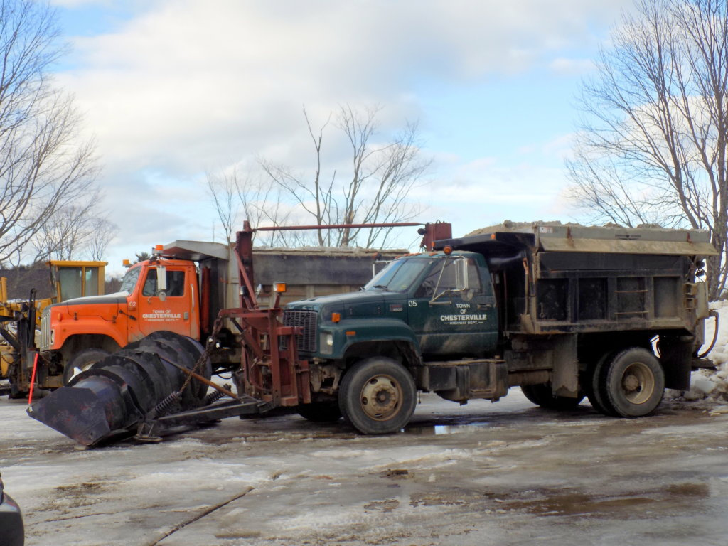 Two plow trucks for the town of Chesterville are among equipment with expired inspection stickers. Highway foreman Mike Cote said the lapse in inspections is due, in part, to broken parts and lack of time because of storms.